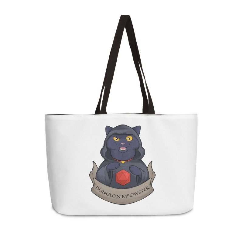 Dungeon Meowster Black Kitty Accessories Weekender Bag Bag by DnDoggos's Artist Shop