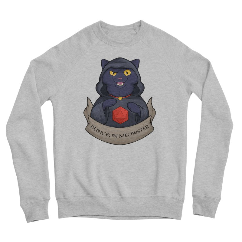Dungeon Meowster Black Kitty Men's Sweatshirt by DnDoggos's Artist Shop