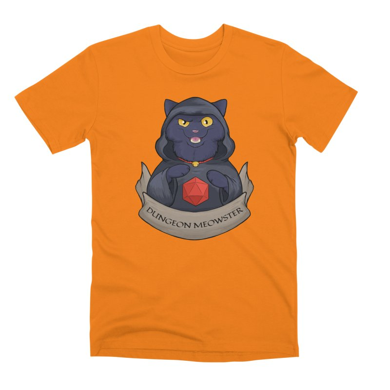 Dungeon Meowster Black Kitty Men's T-Shirt by DnDoggos's Artist Shop