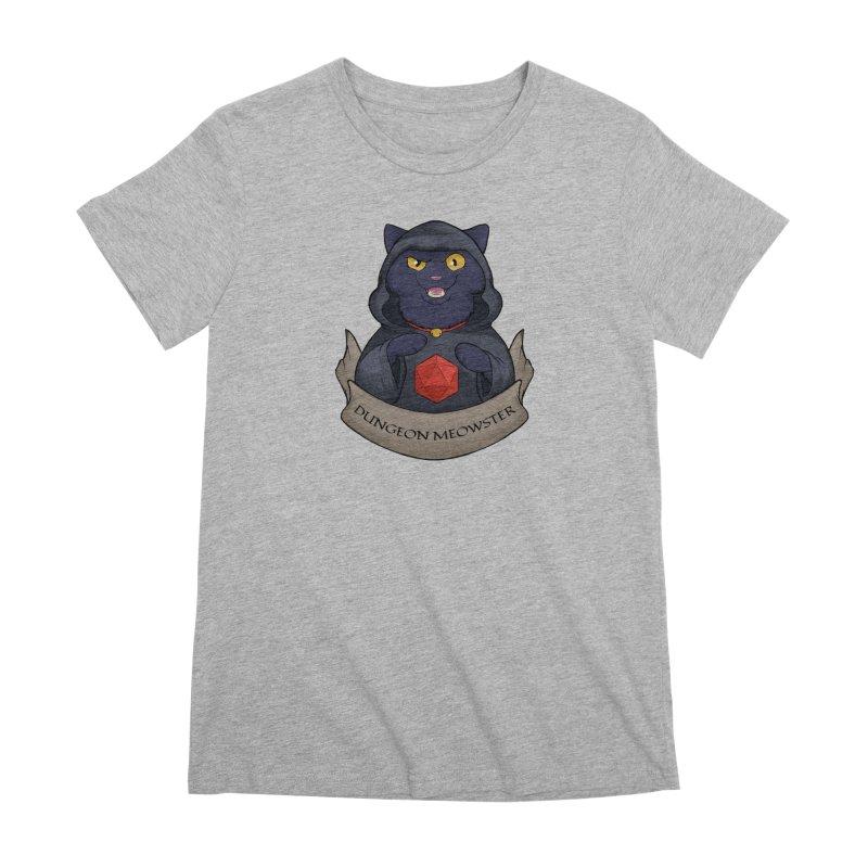 Dungeon Meowster Black Kitty Women's Premium T-Shirt by DnDoggos's Artist Shop