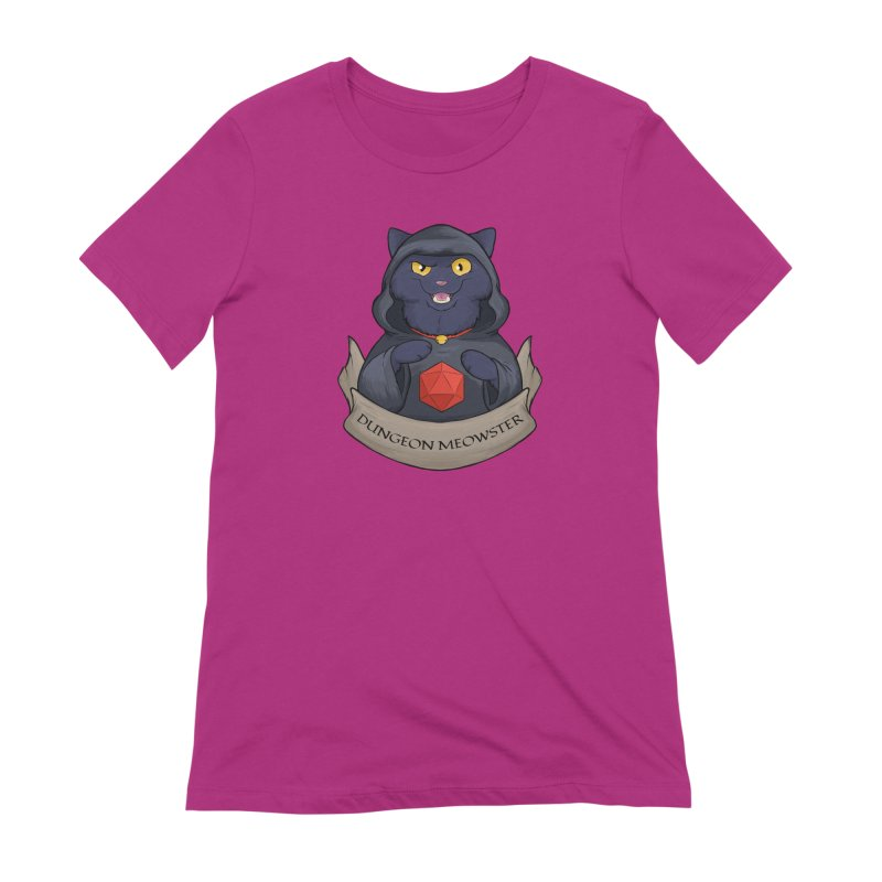 Dungeon Meowster Black Kitty Women's Extra Soft T-Shirt by DnDoggos's Artist Shop