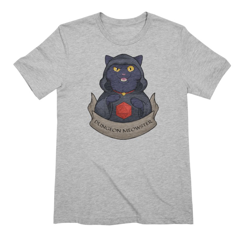 Dungeon Meowster Black Kitty Men's Extra Soft T-Shirt by DnDoggos's Artist Shop
