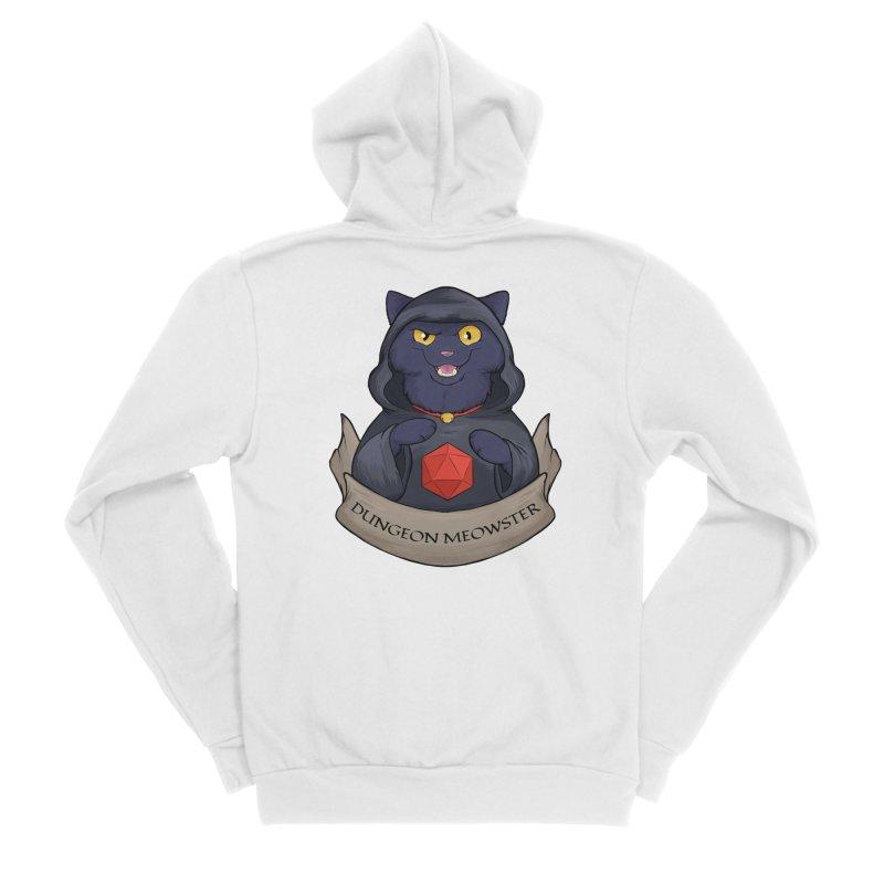 Dungeon Meowster Black Kitty Men's Sponge Fleece Zip-Up Hoody by DnDoggos's Artist Shop