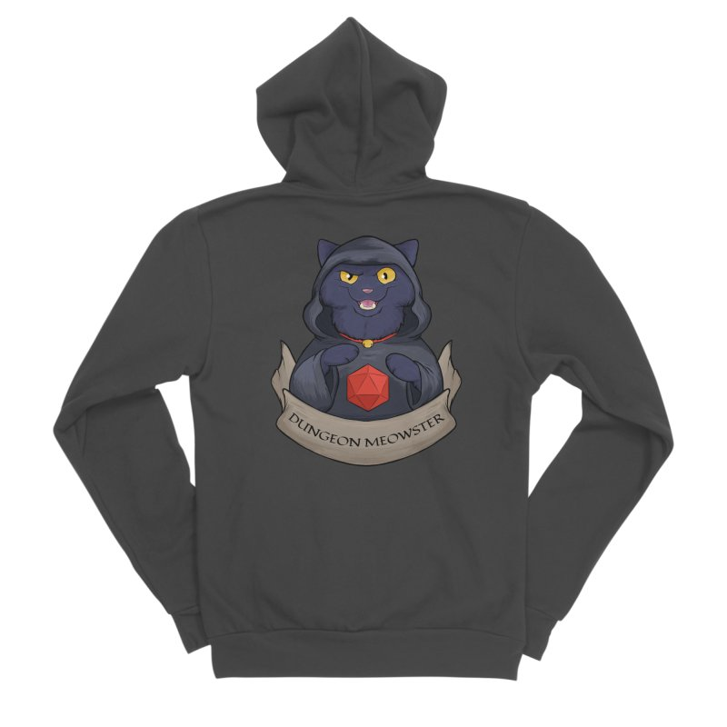 Dungeon Meowster Black Kitty Men's Sponge Fleece Zip-Up Hoody by DnDoggos's Artist Shop