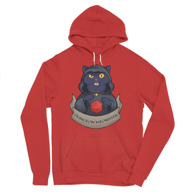 Dungeon Meowster Black Kitty Men's Sponge Fleece Pullover Hoody by DnDoggos's Artist Shop