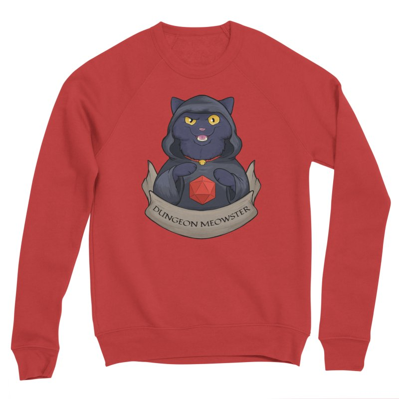 Dungeon Meowster Black Kitty Women's Sponge Fleece Sweatshirt by DnDoggos's Artist Shop