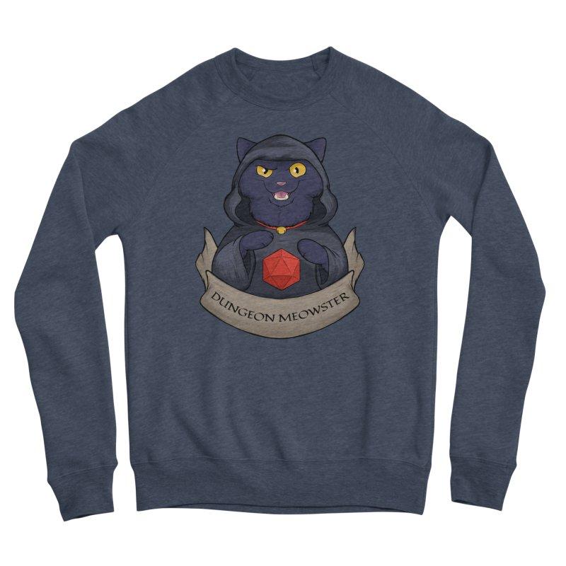 Dungeon Meowster Black Kitty Men's Sponge Fleece Sweatshirt by DnDoggos's Artist Shop