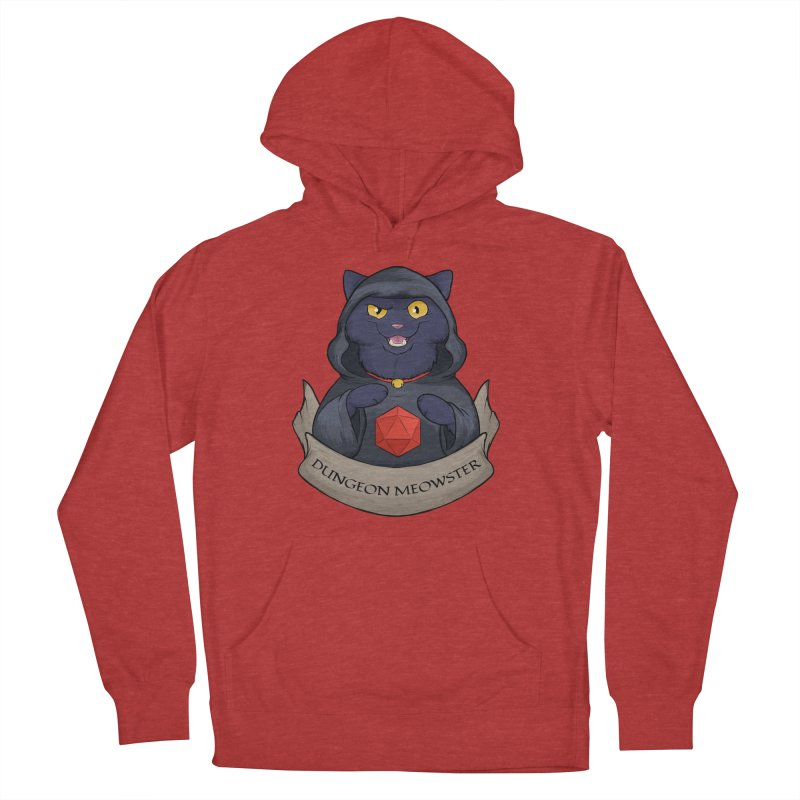 Dungeon Meowster Black Kitty Men's Pullover Hoody by DnDoggos's Artist Shop