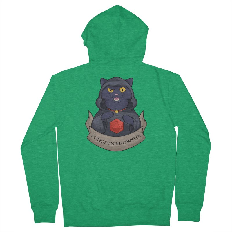 Dungeon Meowster Black Kitty Men's Zip-Up Hoody by DnDoggos's Artist Shop