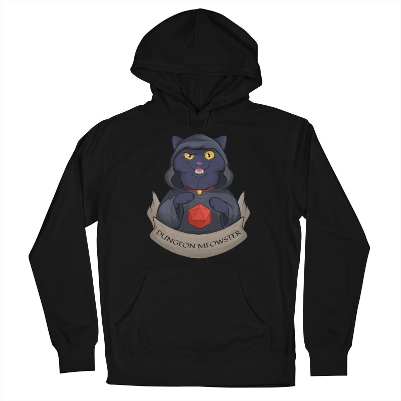 Dungeon Meowster Black Kitty Women's French Terry Pullover Hoody by DnDoggos's Artist Shop