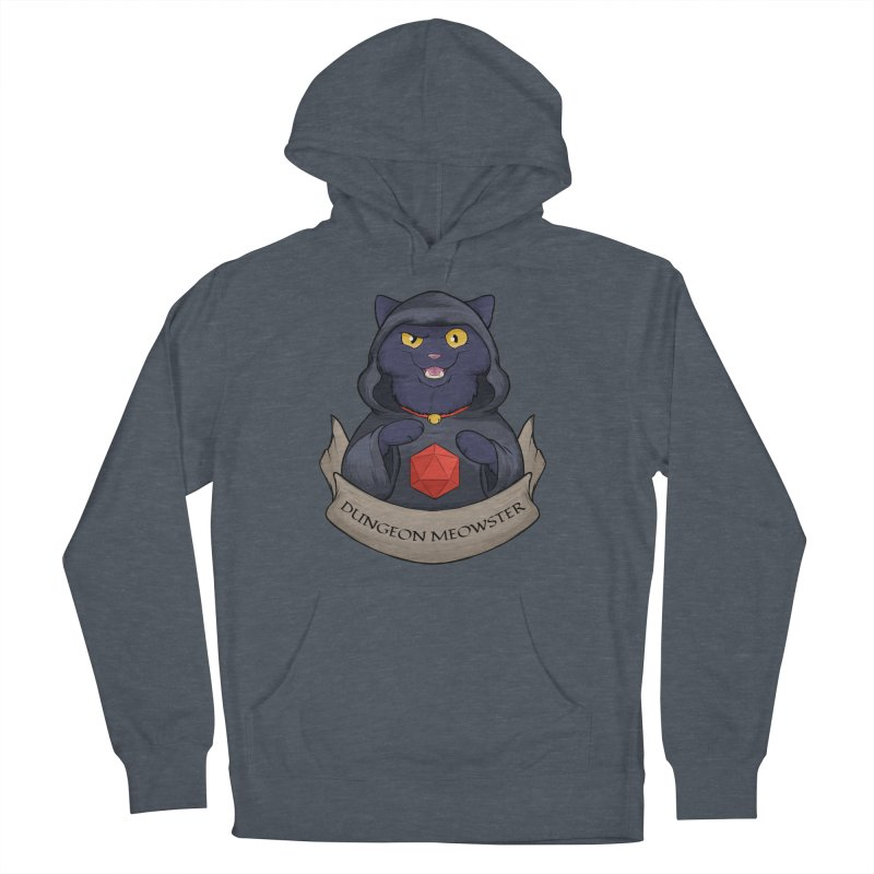 Dungeon Meowster Black Kitty Men's French Terry Pullover Hoody by DnDoggos's Artist Shop