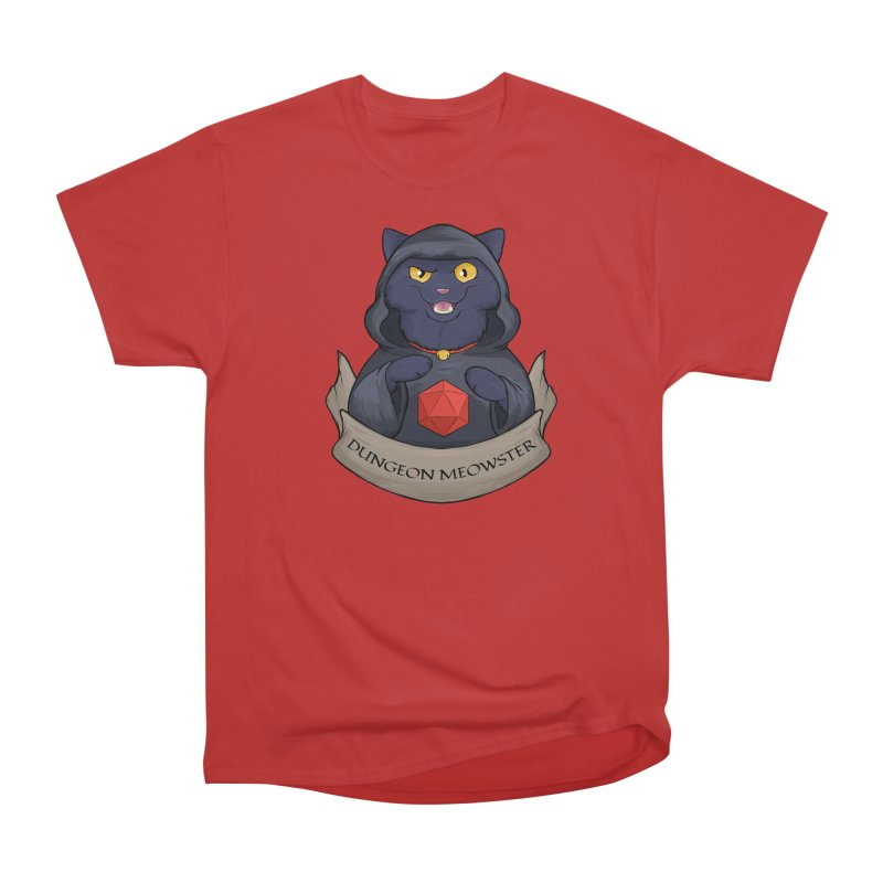 Dungeon Meowster Black Kitty Women's Heavyweight Unisex T-Shirt by DnDoggos's Artist Shop