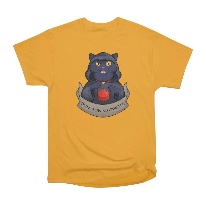 Dungeon Meowster Black Kitty Men's Heavyweight T-Shirt by DnDoggos's Artist Shop