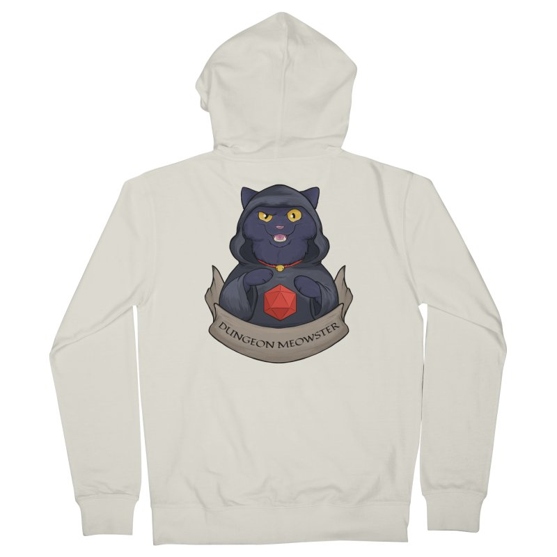 Dungeon Meowster Black Kitty Women's French Terry Zip-Up Hoody by DnDoggos's Artist Shop