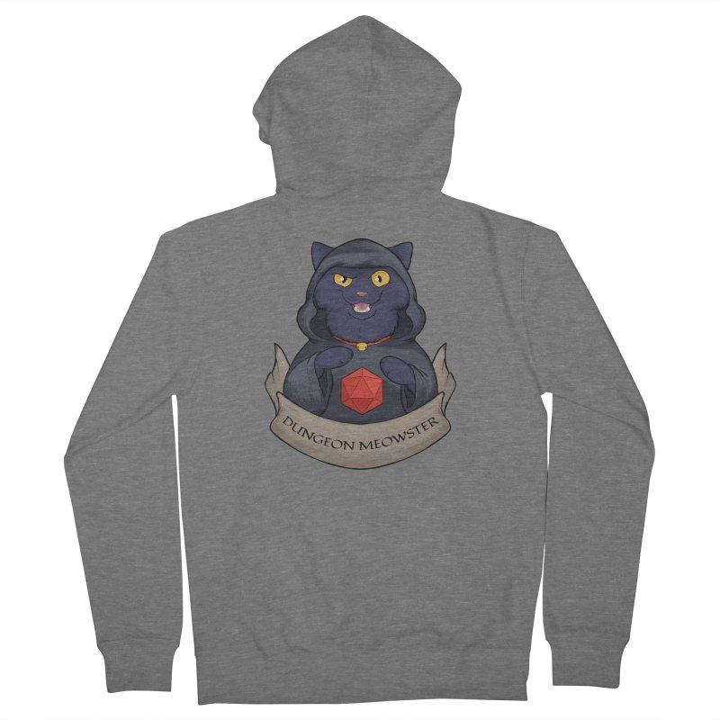 Dungeon Meowster Black Kitty Men's Zip-Up Hoody by DnDoggos's Artist Shop