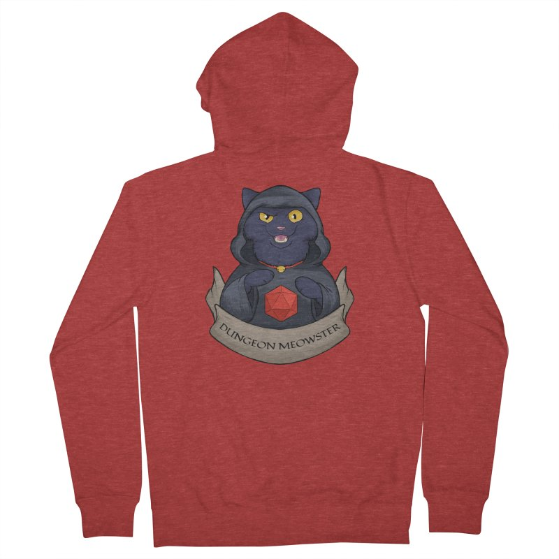 Dungeon Meowster Black Kitty Men's French Terry Zip-Up Hoody by DnDoggos's Artist Shop