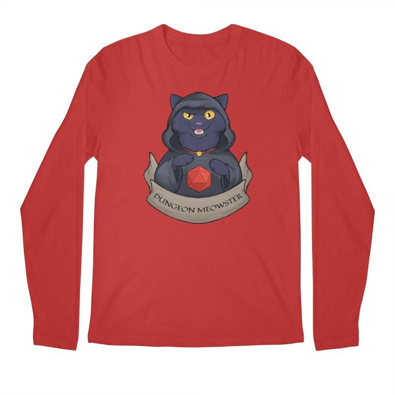 Dungeon Meowster Black Kitty Men's Regular Longsleeve T-Shirt by DnDoggos's Artist Shop