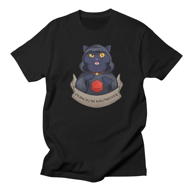 Dungeon Meowster Black Kitty Women's T-Shirt by DnDoggos's Artist Shop
