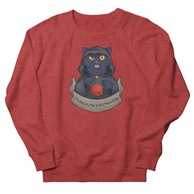 Dungeon Meowster Black Kitty Women's French Terry Sweatshirt by DnDoggos's Artist Shop