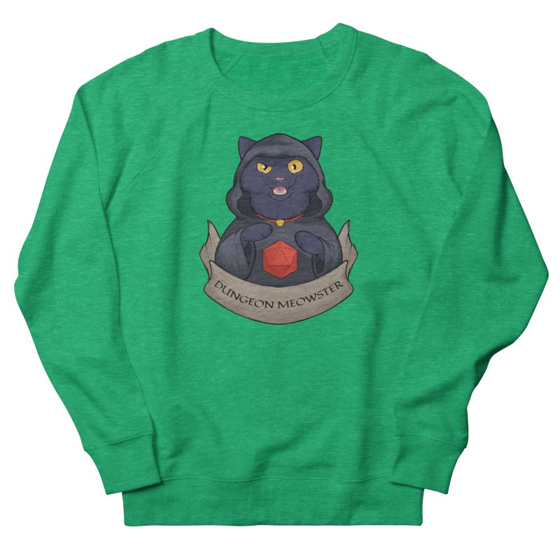 Dungeon Meowster Black Kitty Men's French Terry Sweatshirt by DnDoggos's Artist Shop