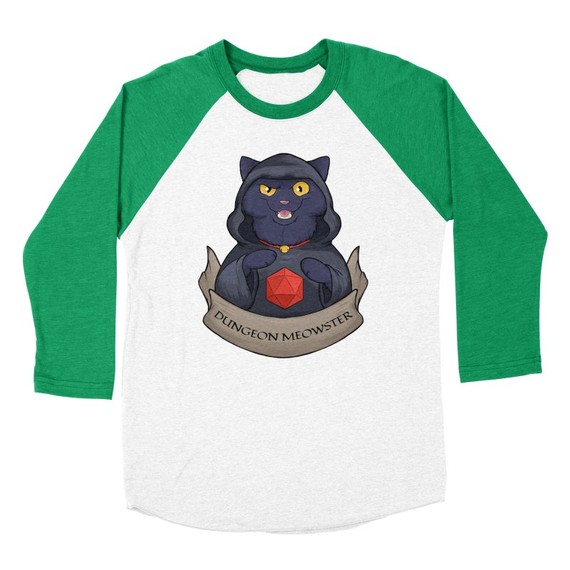 Dungeon Meowster Black Kitty Women's Baseball Triblend Longsleeve T-Shirt by DnDoggos's Artist Shop