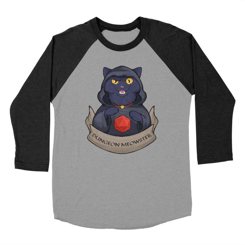 Dungeon Meowster Black Kitty Men's Baseball Triblend Longsleeve T-Shirt by DnDoggos's Artist Shop