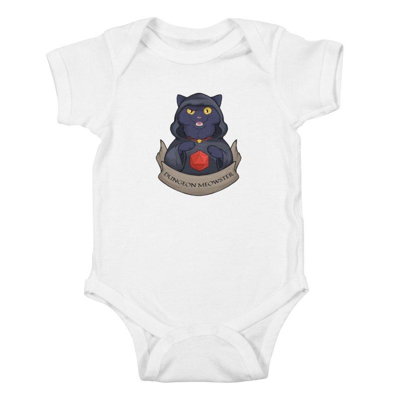 Dungeon Meowster Black Kitty Kids Baby Bodysuit by DnDoggos's Artist Shop