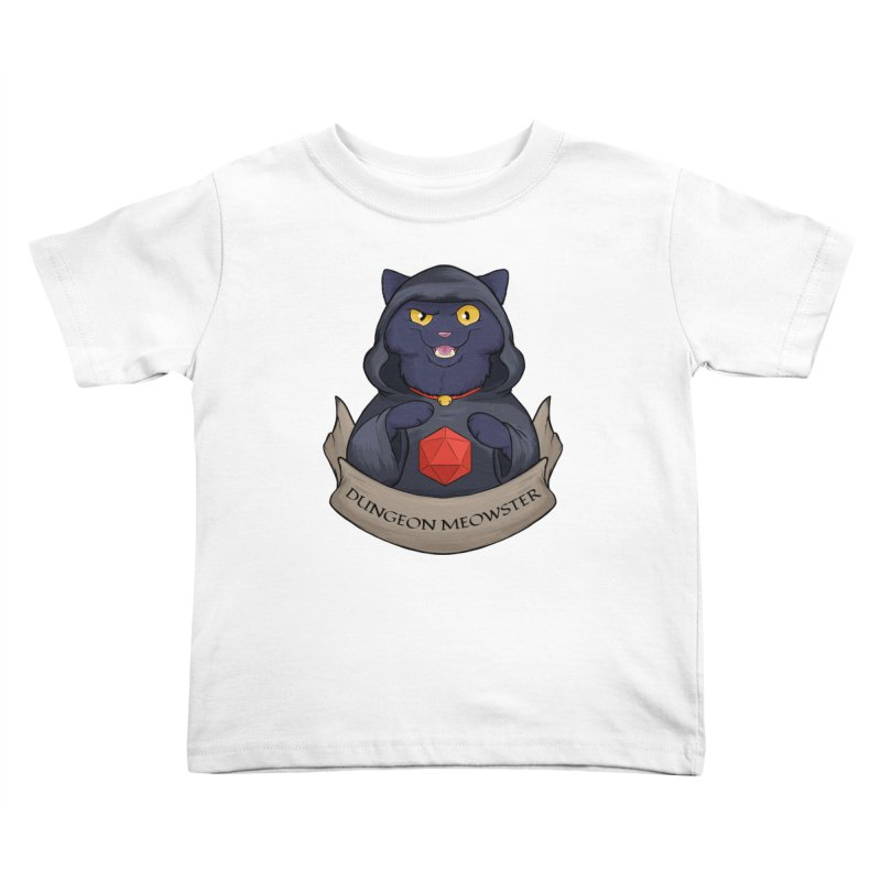 Dungeon Meowster Black Kitty Kids Toddler T-Shirt by DnDoggos's Artist Shop
