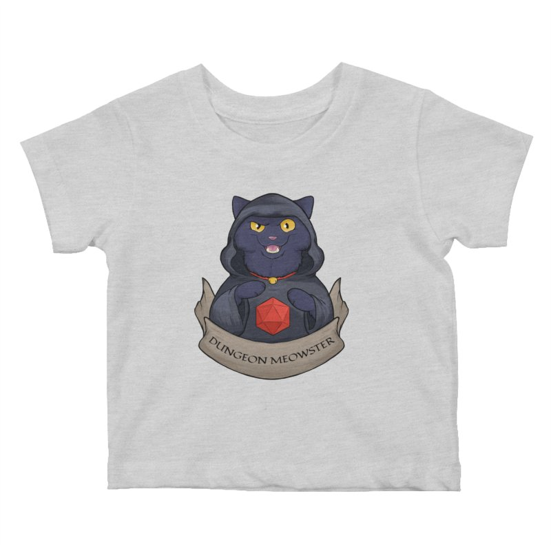 Dungeon Meowster Black Kitty Kids Baby T-Shirt by DnDoggos's Artist Shop