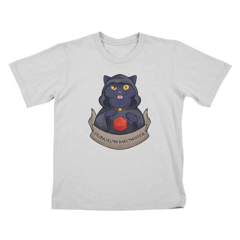Dungeon Meowster Black Kitty Kids T-Shirt by DnDoggos's Artist Shop