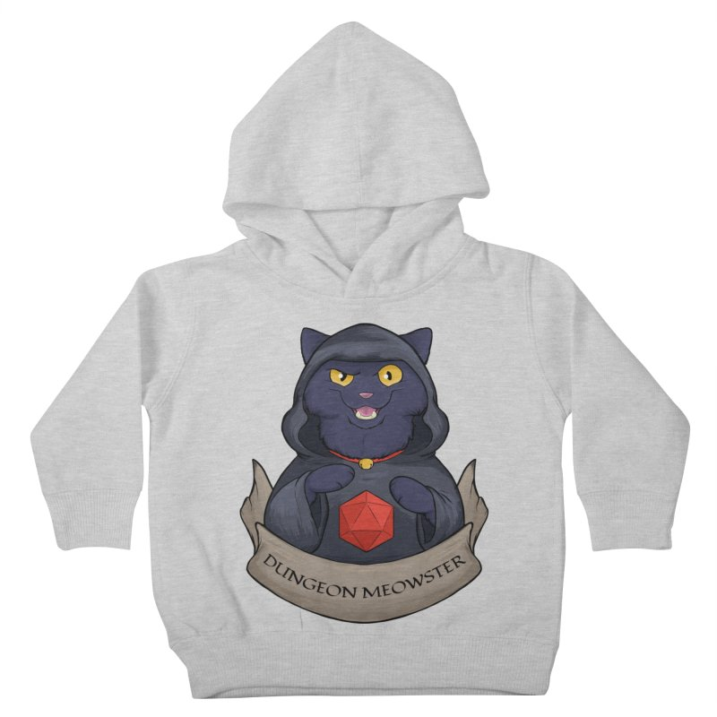 Dungeon Meowster Black Kitty Kids Toddler Pullover Hoody by DnDoggos's Artist Shop