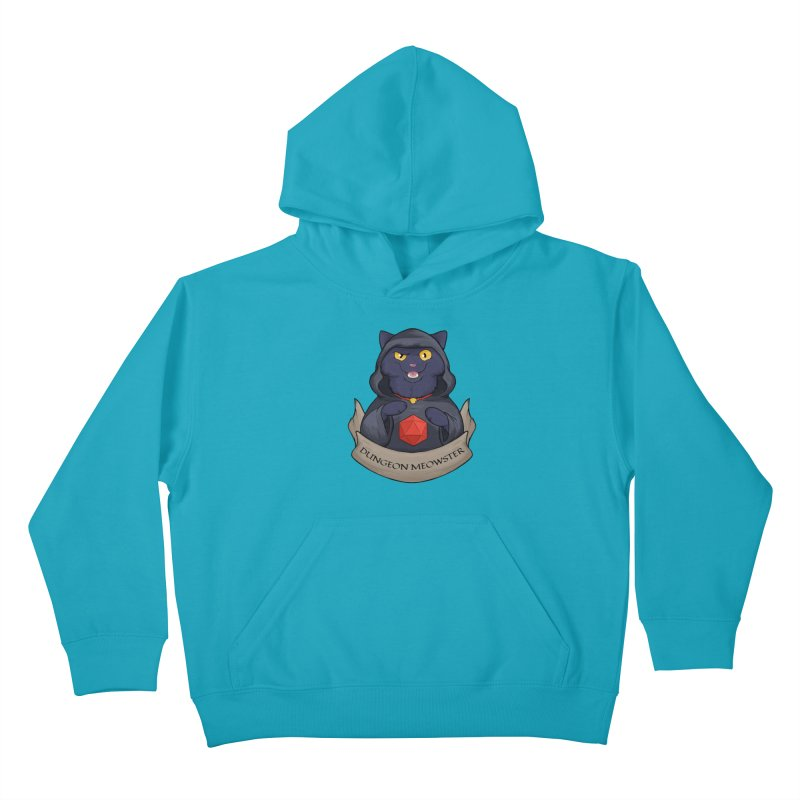 Dungeon Meowster Black Kitty Kids Pullover Hoody by DnDoggos's Artist Shop