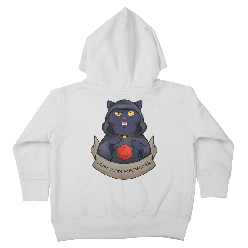Dungeon Meowster Black Kitty Kids Toddler Zip-Up Hoody by DnDoggos's Artist Shop