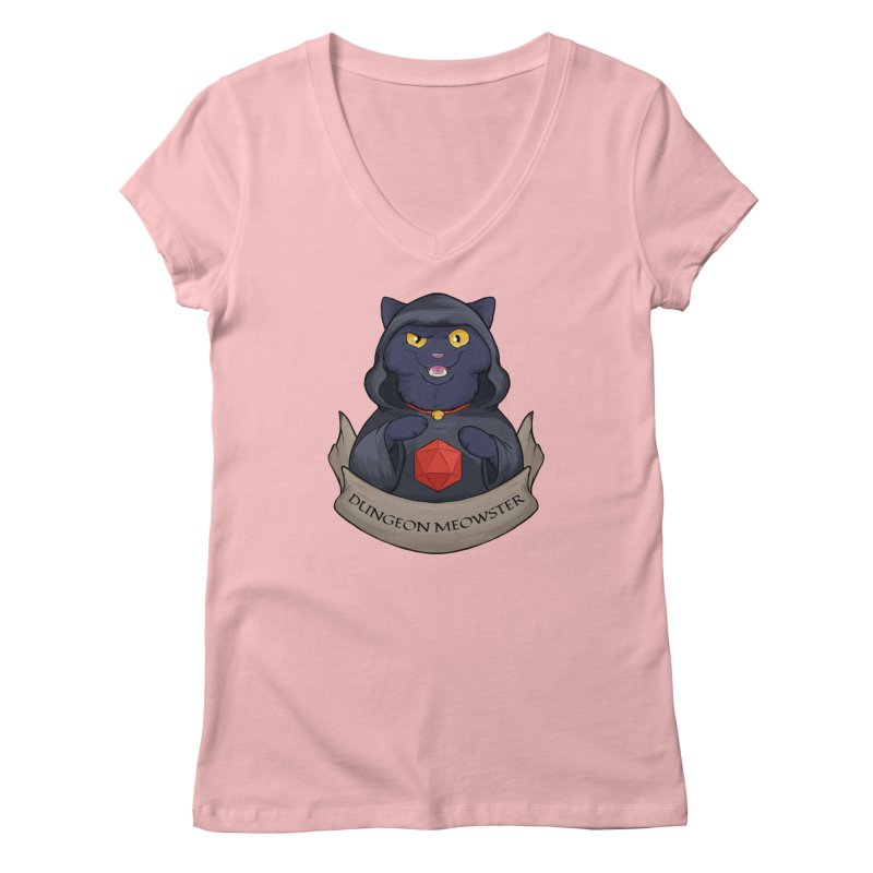 Dungeon Meowster Black Kitty Women's V-Neck by DnDoggos's Artist Shop