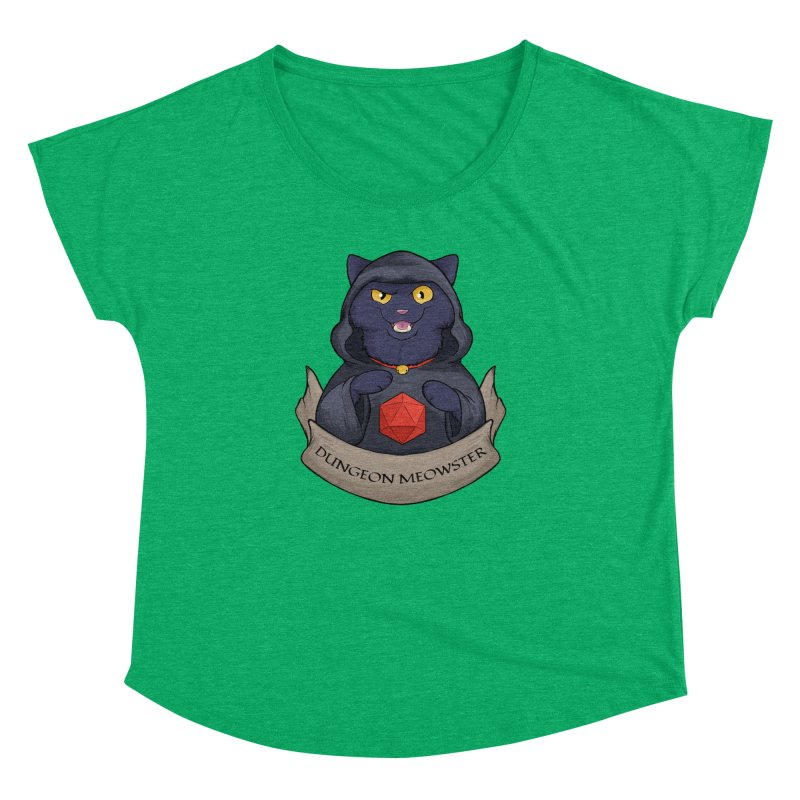 Dungeon Meowster Black Kitty Women's Dolman Scoop Neck by DnDoggos's Artist Shop
