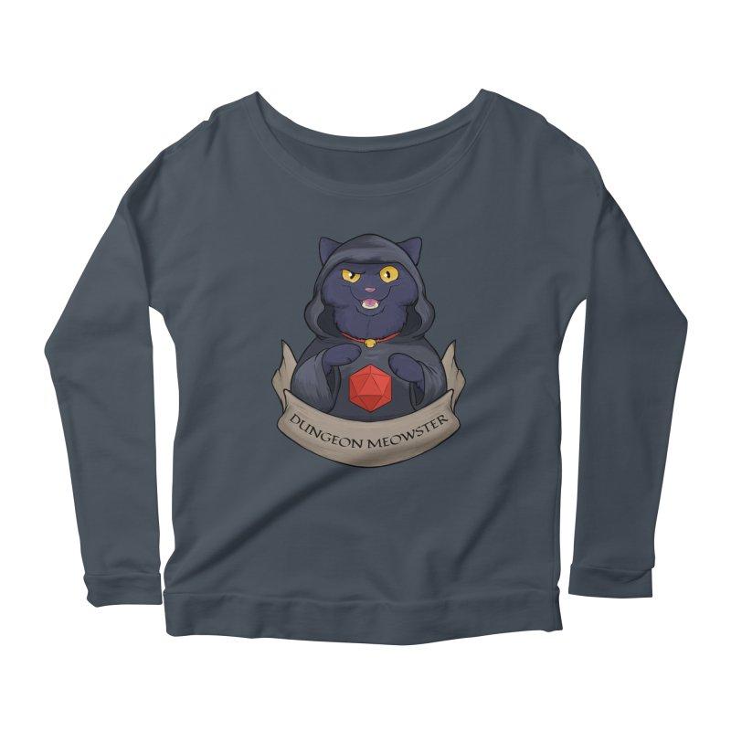 Dungeon Meowster Black Kitty Women's Scoop Neck Longsleeve T-Shirt by DnDoggos's Artist Shop