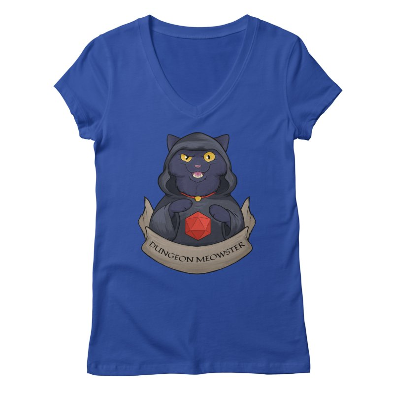 Dungeon Meowster Black Kitty Women's Regular V-Neck by DnDoggos's Artist Shop