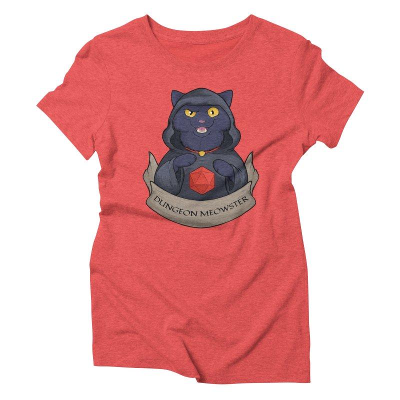 Dungeon Meowster Black Kitty Women's Triblend T-Shirt by DnDoggos's Artist Shop