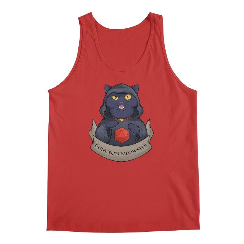 Dungeon Meowster Black Kitty Men's Regular Tank by DnDoggos's Artist Shop