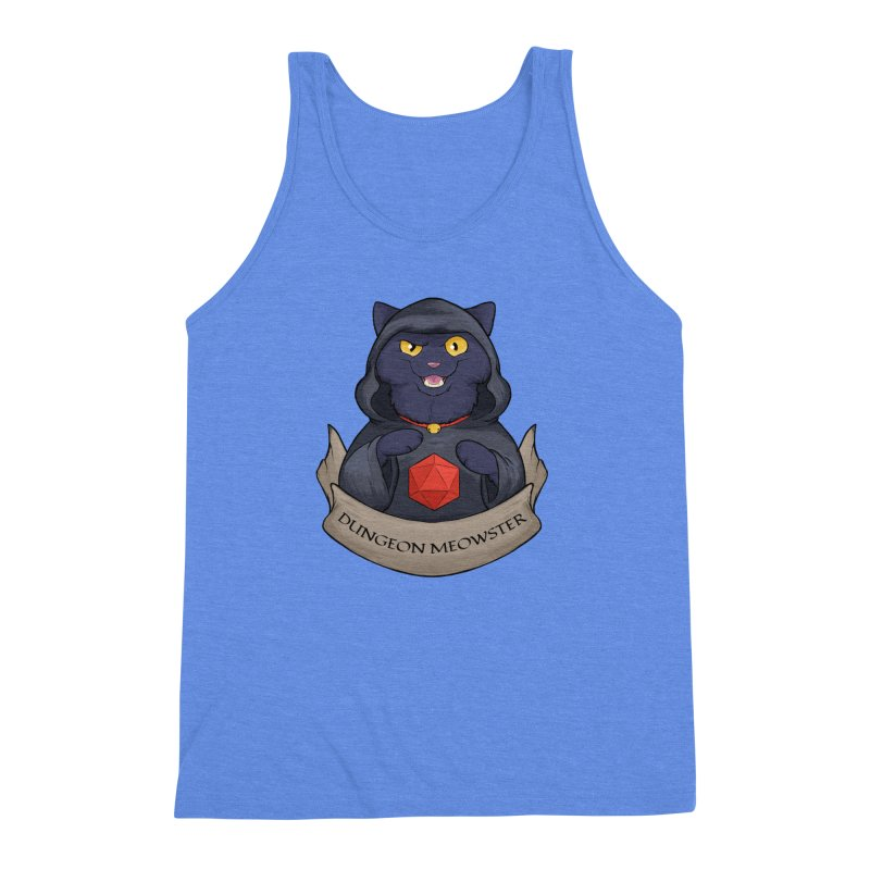 Dungeon Meowster Black Kitty Men's Triblend Tank by DnDoggos's Artist Shop