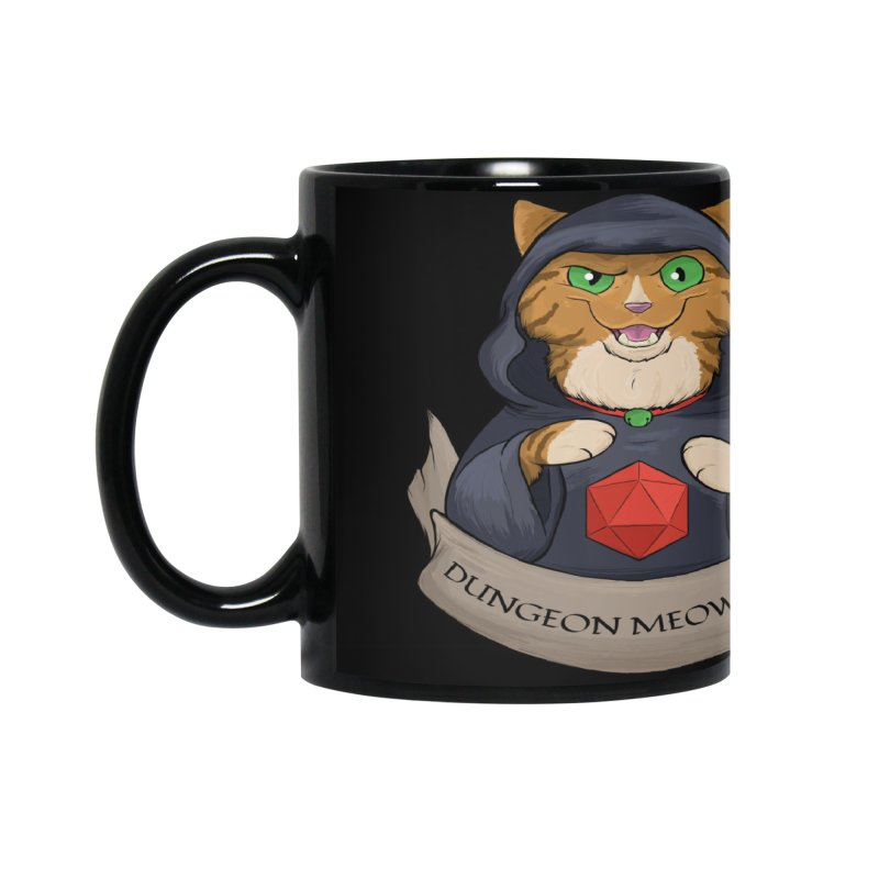 Dungeon Meowster Tabby Kitty Accessories Mug by DnDoggos's Artist Shop