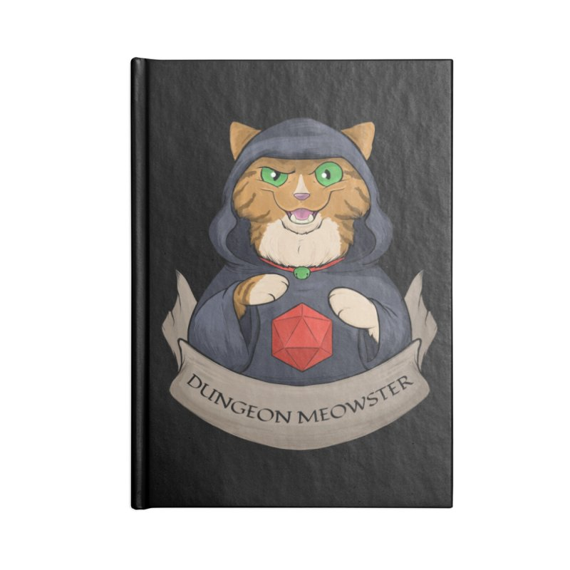 Dungeon Meowster Tabby Kitty Accessories Blank Journal Notebook by DnDoggos's Artist Shop