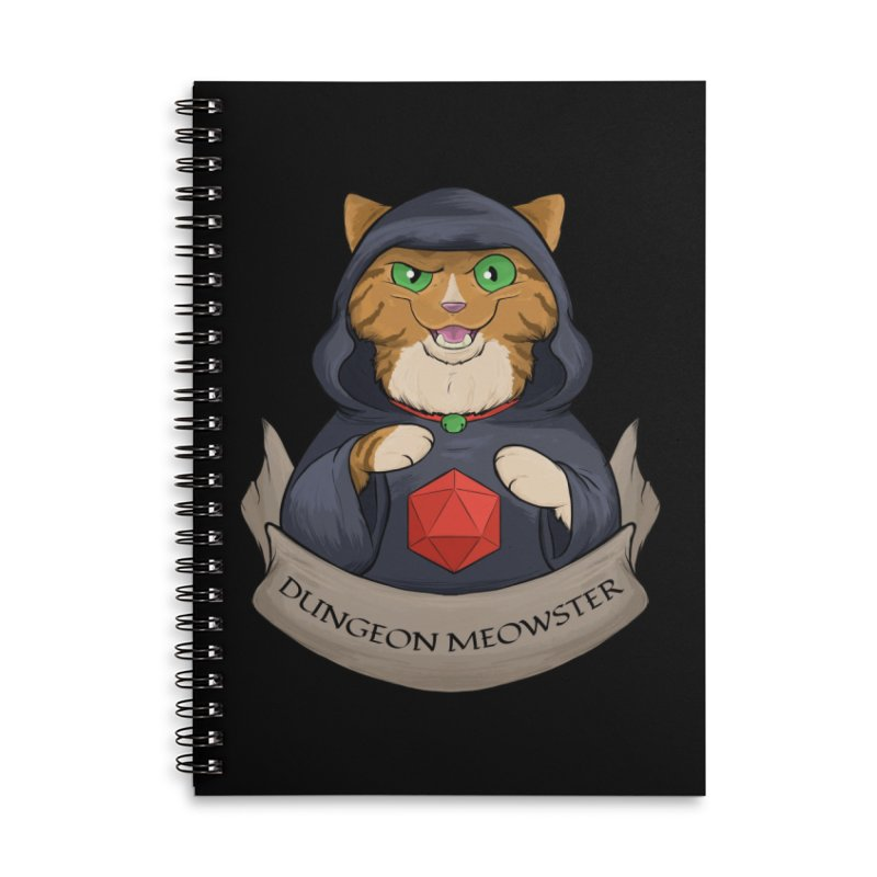 Dungeon Meowster Tabby Kitty Accessories Lined Spiral Notebook by DnDoggos's Artist Shop