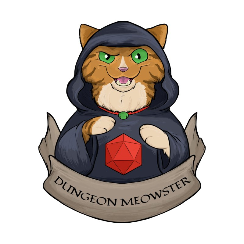 Dungeon Meowster Tabby Kitty Home Fine Art Print by DnDoggos's Artist Shop