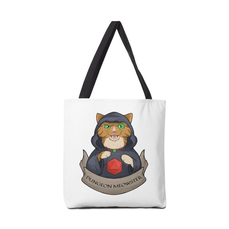 Dungeon Meowster Tabby Kitty Accessories Tote Bag Bag by DnDoggos's Artist Shop