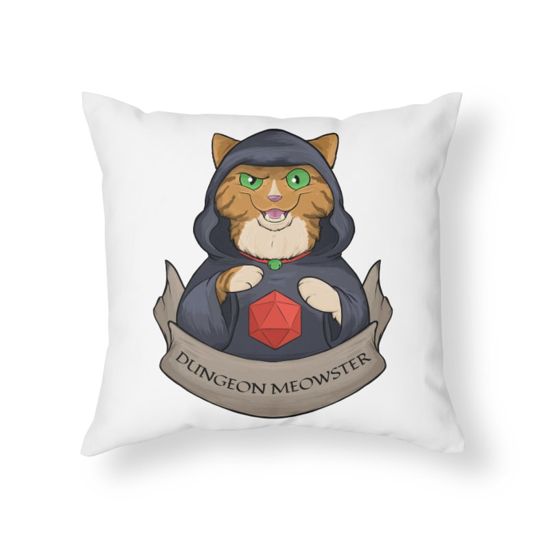 Dungeon Meowster Tabby Kitty Home Throw Pillow by DnDoggos's Artist Shop