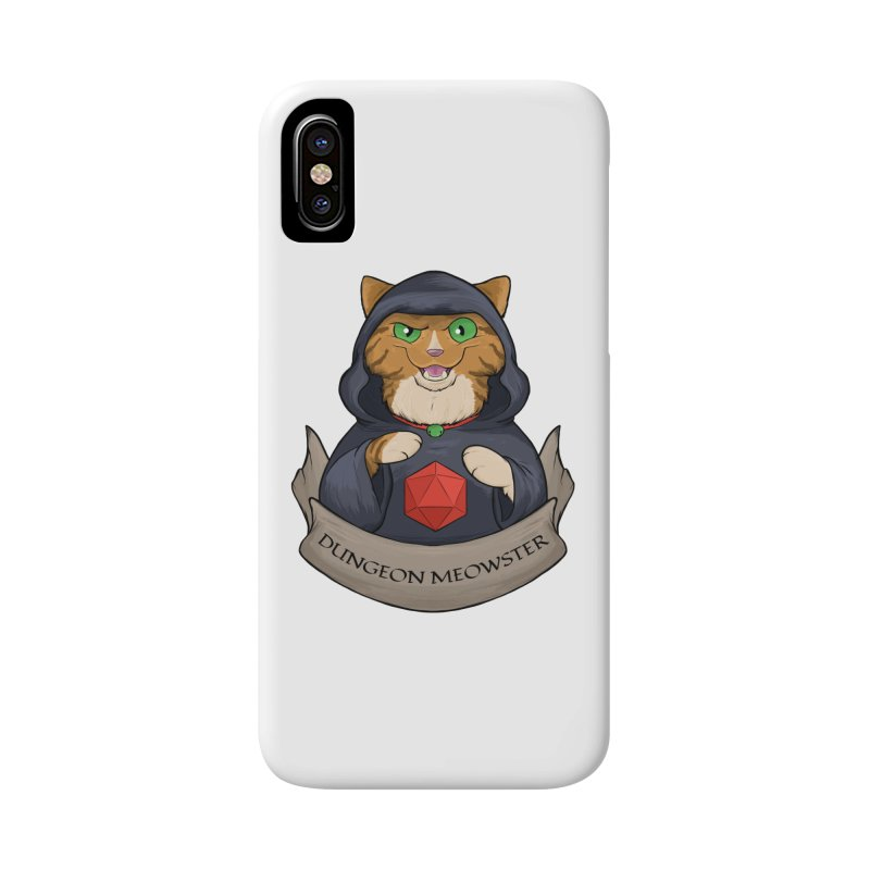 Dungeon Meowster Tabby Kitty Accessories Phone Case by DnDoggos's Artist Shop