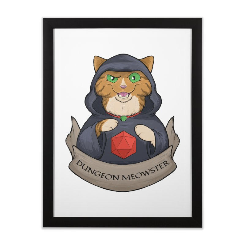 Dungeon Meowster Tabby Kitty Home Framed Fine Art Print by DnDoggos's Artist Shop
