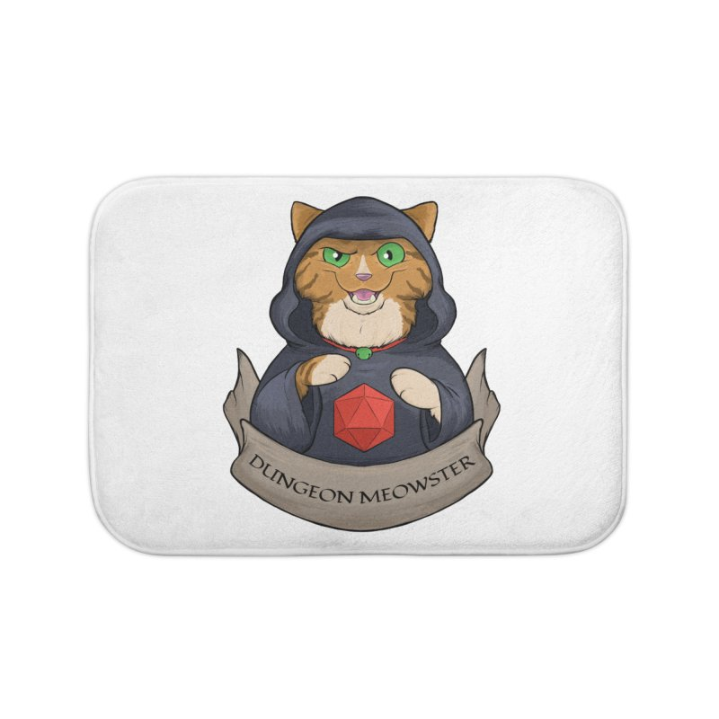 Dungeon Meowster Tabby Kitty Home Bath Mat by DnDoggos's Artist Shop