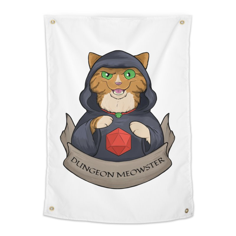 Dungeon Meowster Tabby Kitty Home Tapestry by DnDoggos's Artist Shop